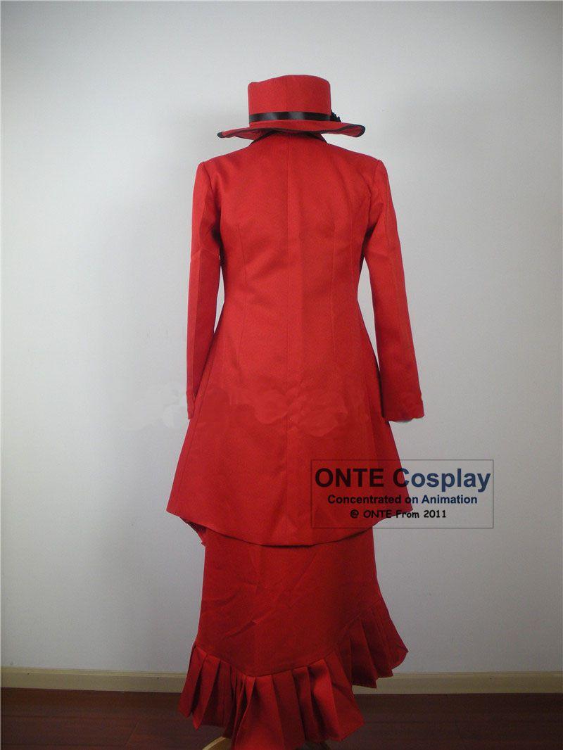 Dibujos animados Negro Mayordomo Cosplay Disfraces Madam Red Fancy - Disfraces - foto 2