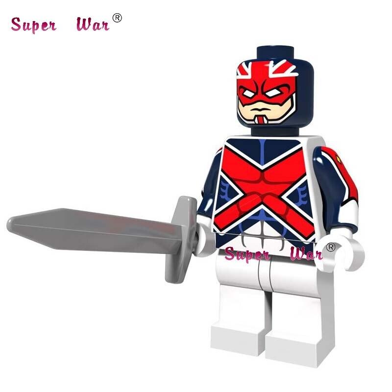 20pcs star wars super hero comics model kits Avengers Captain Britain building blocks bricks classic learning education baby toy