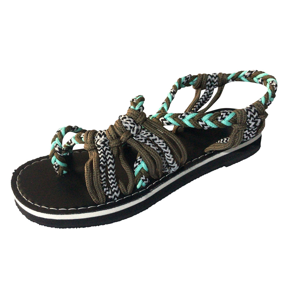 Sandals Shoes Cross-Tied Rome-Style Female Women 35-43 Fashion SAGACE 6J26