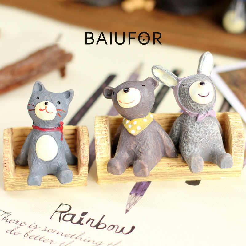 BAIUFOR miniaturowe grzyby kikut żywica ławka krzesło figurki do Terrarium DIY bajki dekoracje ogrodowe akcesoria samochodowe zabawki dla dzieci