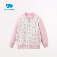 Les Enfants Brand New Spring Autumn Print O Neck Spring Full Sleeve Jacket Coat Cotton Print