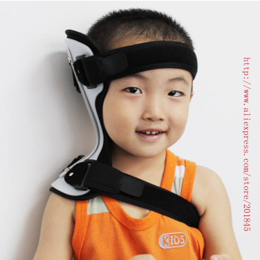 Children Neck Safety Corrector Collar Crooked Neck Cervical Collar Support Brace Neck Orthopaedic Cervical Orthoses Size S / L crooked kingdom