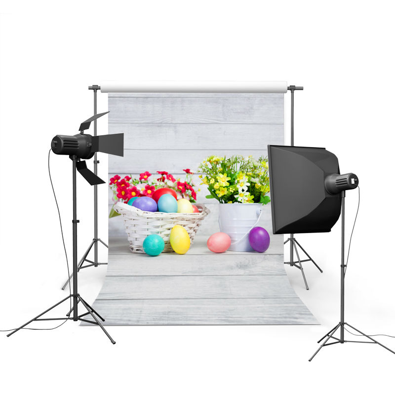 2017 new spring easter photography backdrops eggs chiken new born baby children photographic background Easter Day P0360
