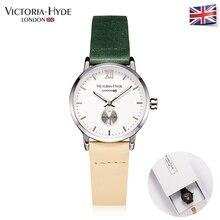 Victoria Hyde Women Quartz Watch Ladies Summer Waterproof Wrist Watches Leather Strap Green And Yellow Brand