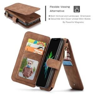 Image 5 - Pour iPhone 11 étui portefeuille 2 en 1 détachable magnétique housse en cuir pour iPhone 12 Pro Max 12 XR SE 2020 XS 7 7plus 8 6S