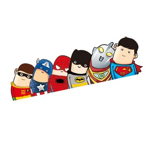Image 2 - Car Styling Super Hero Hitchhike Save The World Moto Stickers Motorcycle Decal Funny Cartoon Reflective Car Sticker Accessories