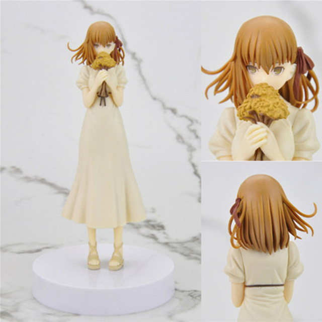 17cm Japanese anime figure Fate/stay Night Matou Sakura with flower action figure Model Gifts no retail box (Chinese Version)