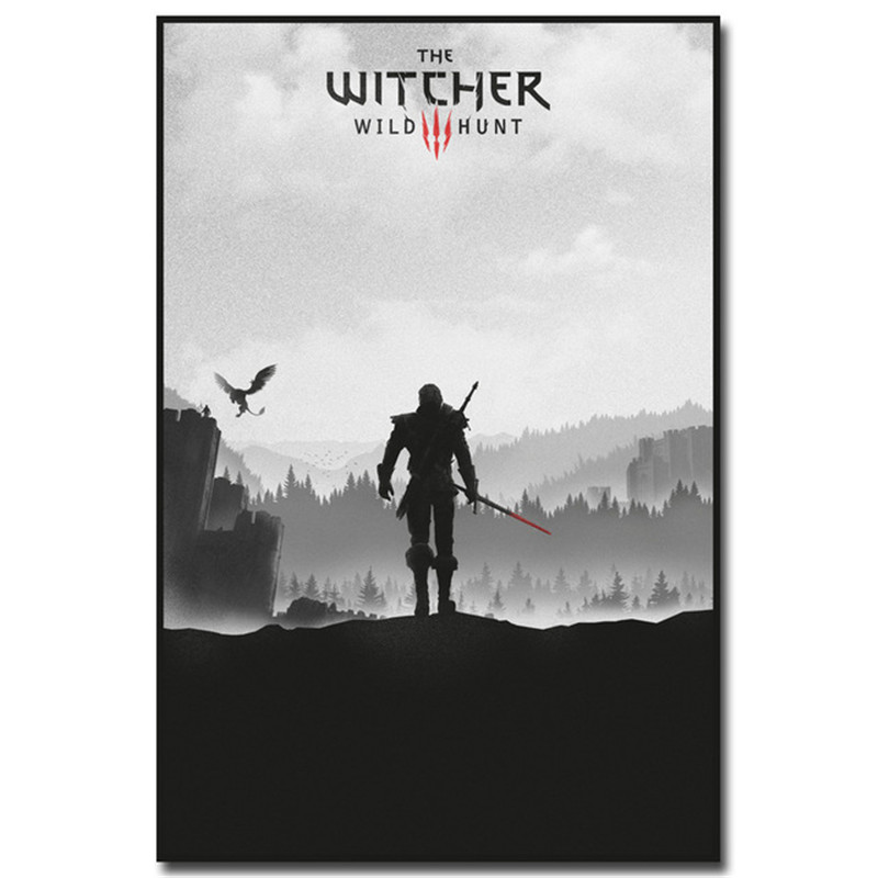 Nordic Geralt - The Witcher 3 Wild Hunt Wall Art Canvas Painting Poster Hot Game Pictures For living room Decoration Home Decor