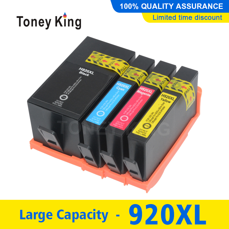 4 Color 920XL Ink Cartridge for HP920 for <font><b>HP</b></font> 920 XL Inkjet Officejet 6000 <font><b>6500</b></font> 6500A 7000 7500 7500A <font><b>Printer</b></font> Full Cartridges image