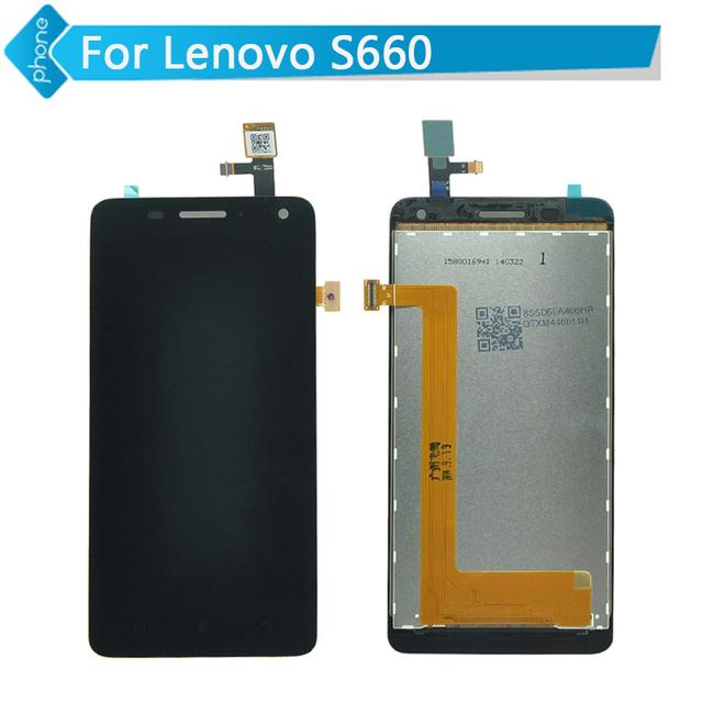 Pantalla lcd de repuesto para lenovo s660 pantalla lcd con pantalla táctil digitalizador asamblea negro + herramientas