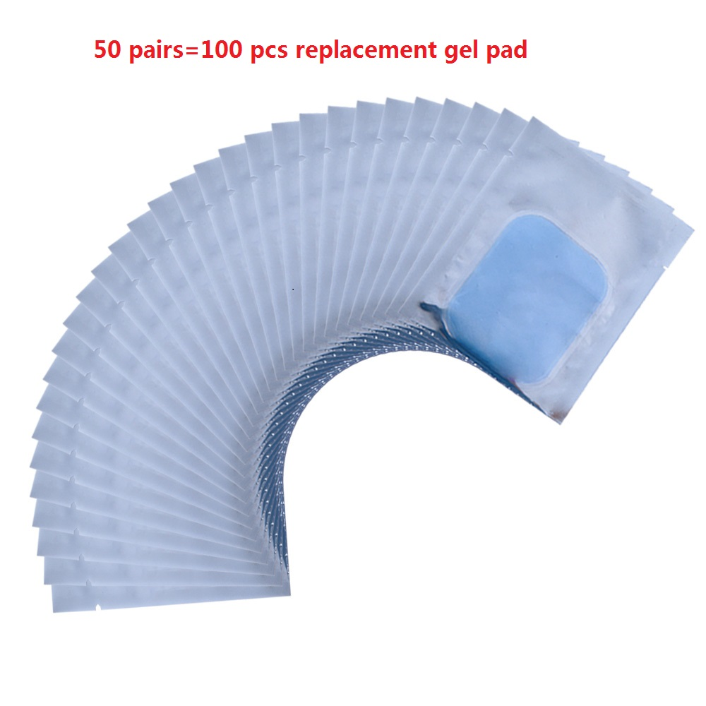 100PCS Muscle Stimulator Replacement Gel Pads Hydrogel Sticker ABS Stimulator Smart Fitness EMS Trainer Pads 50 pairs