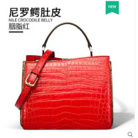 gete 2019 new Crocodile bag lady bag 2018 new Nile crocodile lady handbag crocodile belly cross women handbag