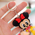 2pcs /lot 2016 Newest Cheap Silicone Cartoon Key chains PVC Keyrings for Promotion Gifts Christmas Gift for Baby