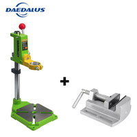 Drill Stand 0 360 Degrees Drill Press Stand Table +2.5' Bench vise Drill chuck Power tool For Woodworking Tools