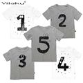 2017 Number Letter Boys Print T shirt For Kids Summer T-shirts Baby Boy Funny Birthday T-shirts Kids Boys Casual Tops CG052
