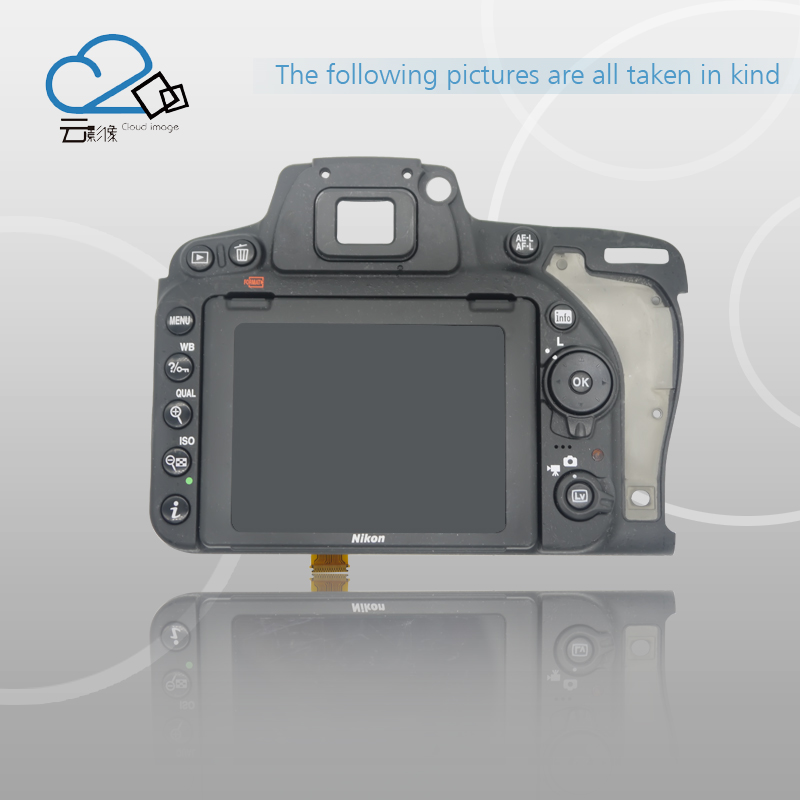 Free shipping!Test OK!D750 back cover with LCD display screen back case with menu button,flex cable FPC for Nikon