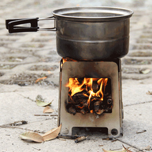Outdoor wood stove firewood furnace thermal portable camping barbecue cooking roast out credit card field