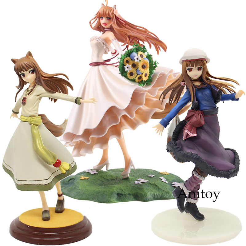 Vestido De Noiva Ver figura Anime Figura Spice and Wolf Holo. Holo Renovação 1/8 Scale PVC Action Figure Toy Collectible