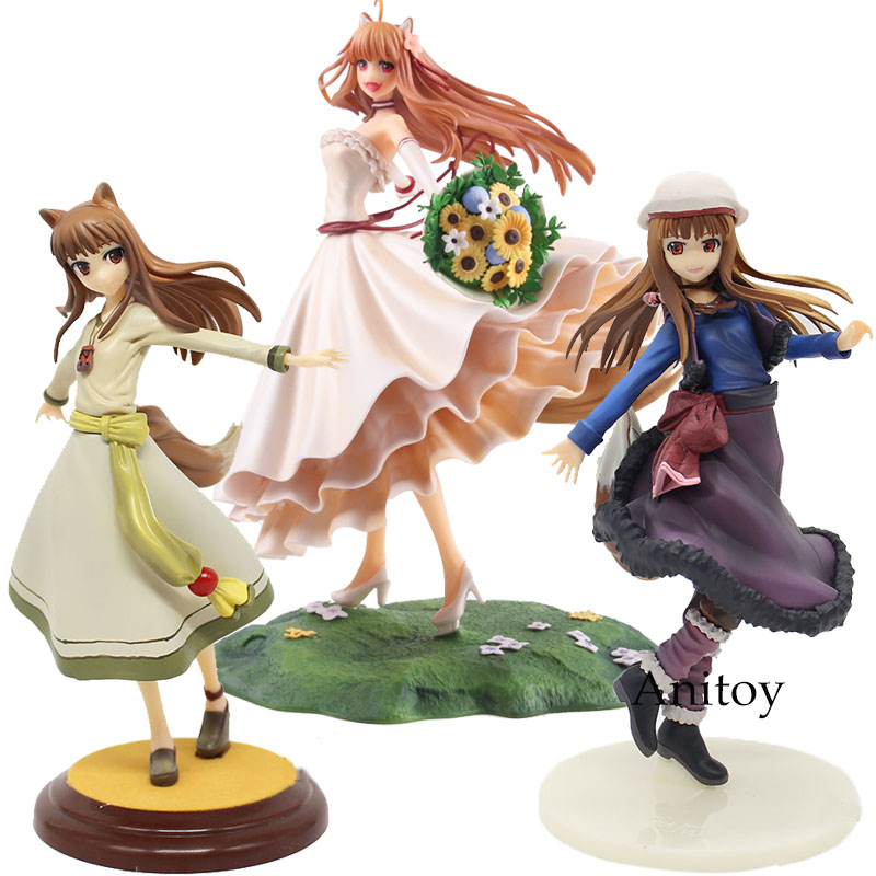 Vestido De Noiva Ver figura Anime Figura Spice and Wolf Holo. Holo Renovação 1/8 Scale PVC Action Figure Toy Collectible