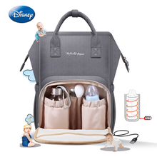 Disney Oxford USB Thermal Insulation Bag High-capacity Baby Feeding Bottle Bags Diaper Bags  waterproof Mother travel backpack disney milk food storage thermal bag warmer box baby feeding bottle thermal keeps drinks cool backpack mummy bags diaper bags