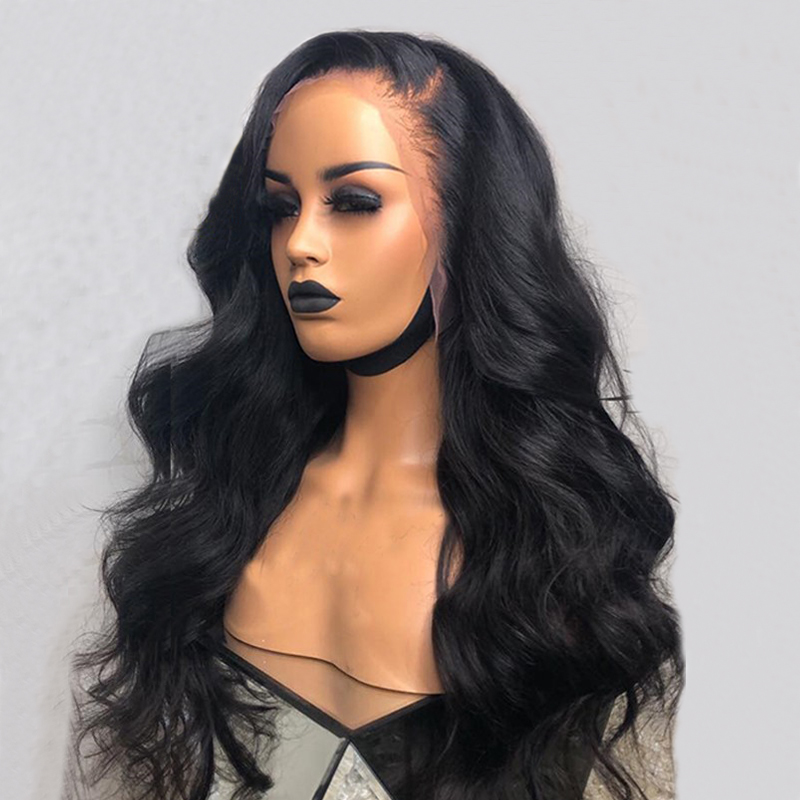 250 Density Lace Front Human Hair Wigs For Women Black 13x6 Lace Front Wig Brazilian Body