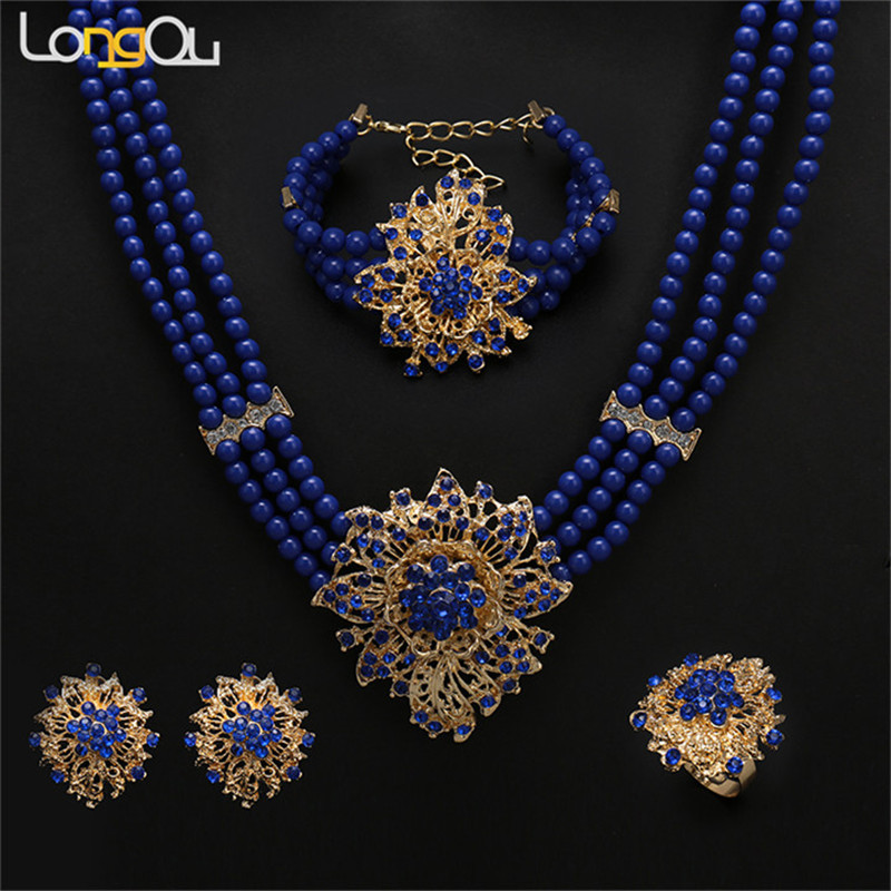 New Dubai Jewelry Set Necklace/Earring/Bracelet Gold Color Ethiopian/African/Eritrea/Saudi Arabia Women Wedding Gifts