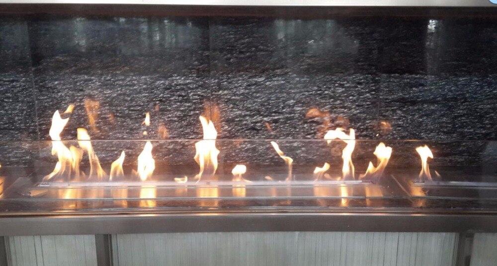 Bio Ethanol Fireplace 18 Inch Long Remote Control Intelligent Silver Chimenea Electrica