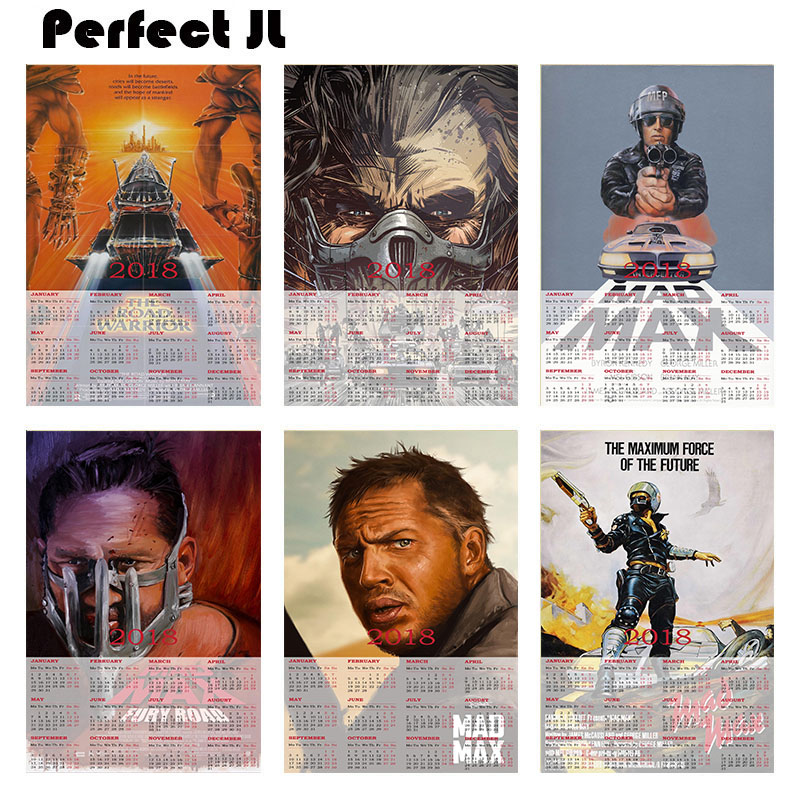 Mad Max Fury Road B 2018 calendar Home Furnishing decorative white coated paper Poster Wall Sticker Home Decora