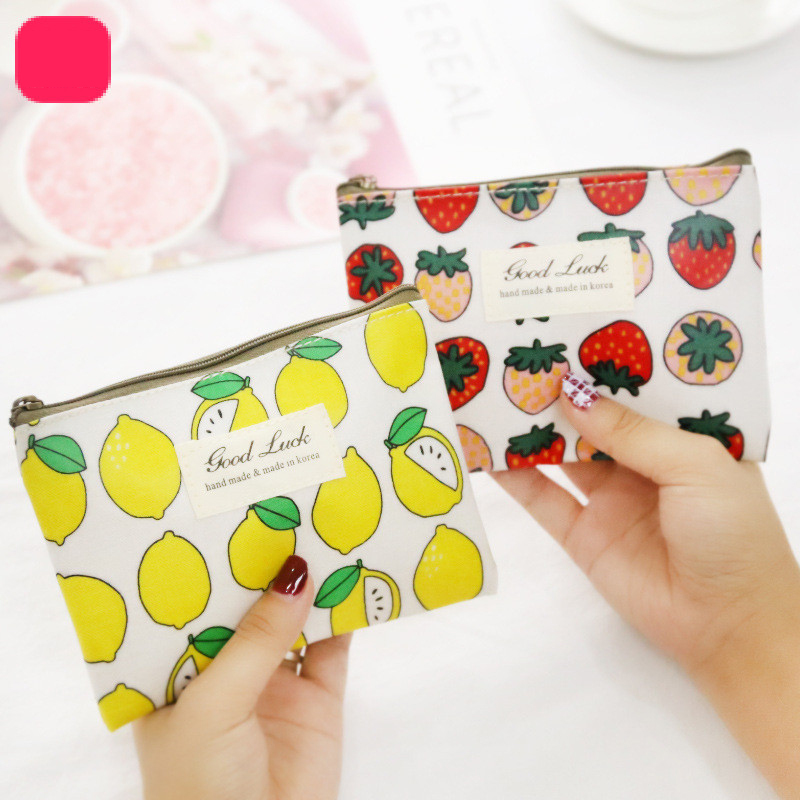 Mini fresh small purse cute female student minimalist portable zipper coin purse hand bag party coin bag(China)