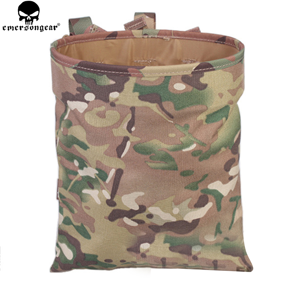 EMERSONGEAR Drop tok Tactical Sundries Összecsukható Dump Pouch Airsoft Katonai Magazin Zacskó Bag Multicam Black Drop tok EM6032