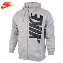 Nike Original men's spring sportswear outdoor training Hoodie Grey Blue jacket(China)