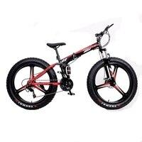 21 velocidad 26x4.0 Plegable bicicleta grasa bikeMountain bicicletas de Doble amortiguación Delantera y trasera frenos de disco de Bicicleta Moto de Nieve