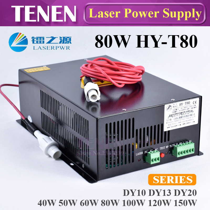 HY-T80 80W CO2 Laser Power Supply 110V/220V High Voltage For Engraving Cutting Machine Matched With Laser Tube One Year WarrantyHY-T80 80W CO2 Laser Power Supply 110V/220V High Voltage For Engraving Cutting Machine Matched With Laser Tube One Year Warranty