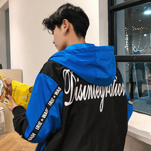2019 Spring New Pattern Printing Even Cap Collision Loose Coat Male Lovers  hoodies Fashion Free shipping