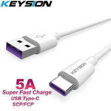 Keysion Usb C Kabel 5A Supercharge Usb Type C Kabel Voor Huawei P30 P20 Pro Mate20 10 Pro P10 Plus lite Quick Opladen Snelle Kabel