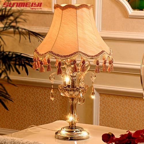 Кристалл Настольная лампа Модные Простые облака Высокая Класс Eyeshield настольная лампа для дома Спальня Гостиная украшения ночники