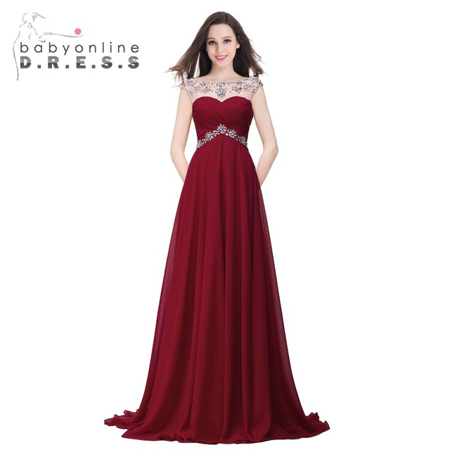 Under $50 Elegant Burgundy Navy Blue A Line Cheap Prom Dresses 2017 ...