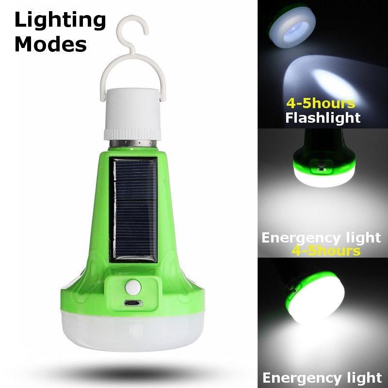 Luces de emergencia bombilla LED al aire libre 12 W 18 W Mini USB carga de energía Solar LED lámpara de jardín lámparas portátiles para pesca 165-265 V
