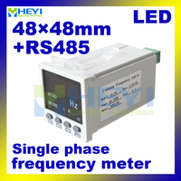 LED digital Frequency meter with RS485 communication 48mm*48mm single phase digital panel meter