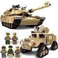 Kazi Военная M1A2 Танк Коллекция Серии Trans Игрушки 1:28 ABRAMS MBT HUMMER Модель Строительные наборы Блоков, которые поддерживаются с lego