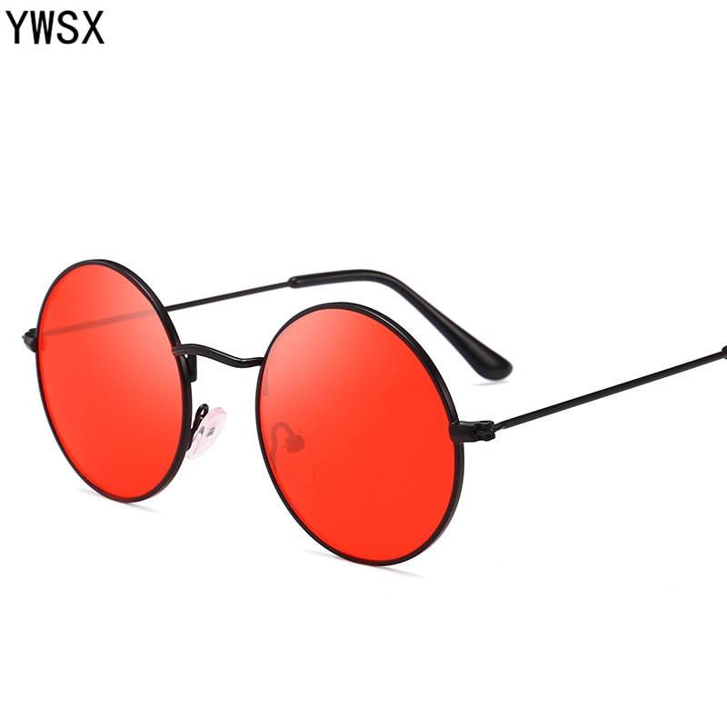 YWSX Vintage Fém Keret Kerek Lencse Napszemüveg Férfi Nők Retro - Ruházati kiegészítők