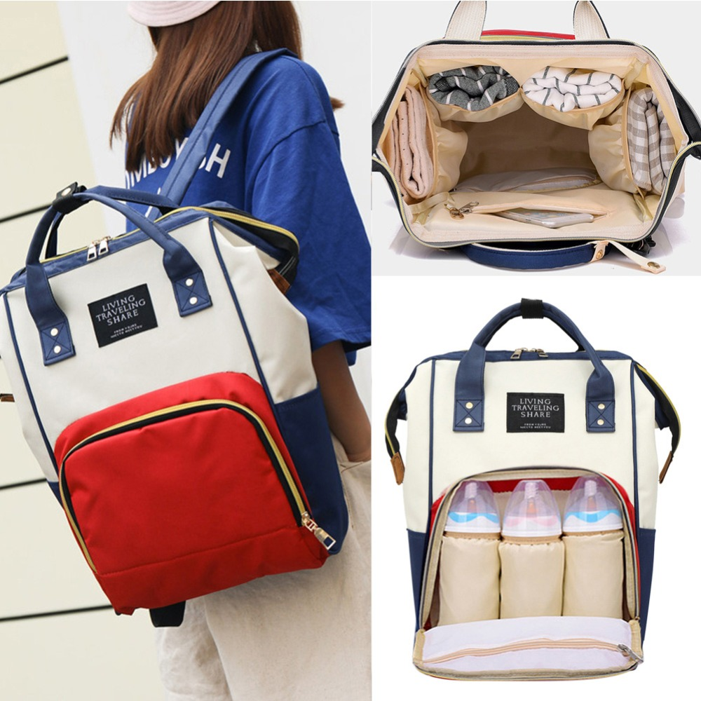 Fashion Mummy Backpacks Oxford Big Capacity for Mom Maternity Diaper Bag Milk Bottle Baby Bags Travel Shoulder Bags for Girls