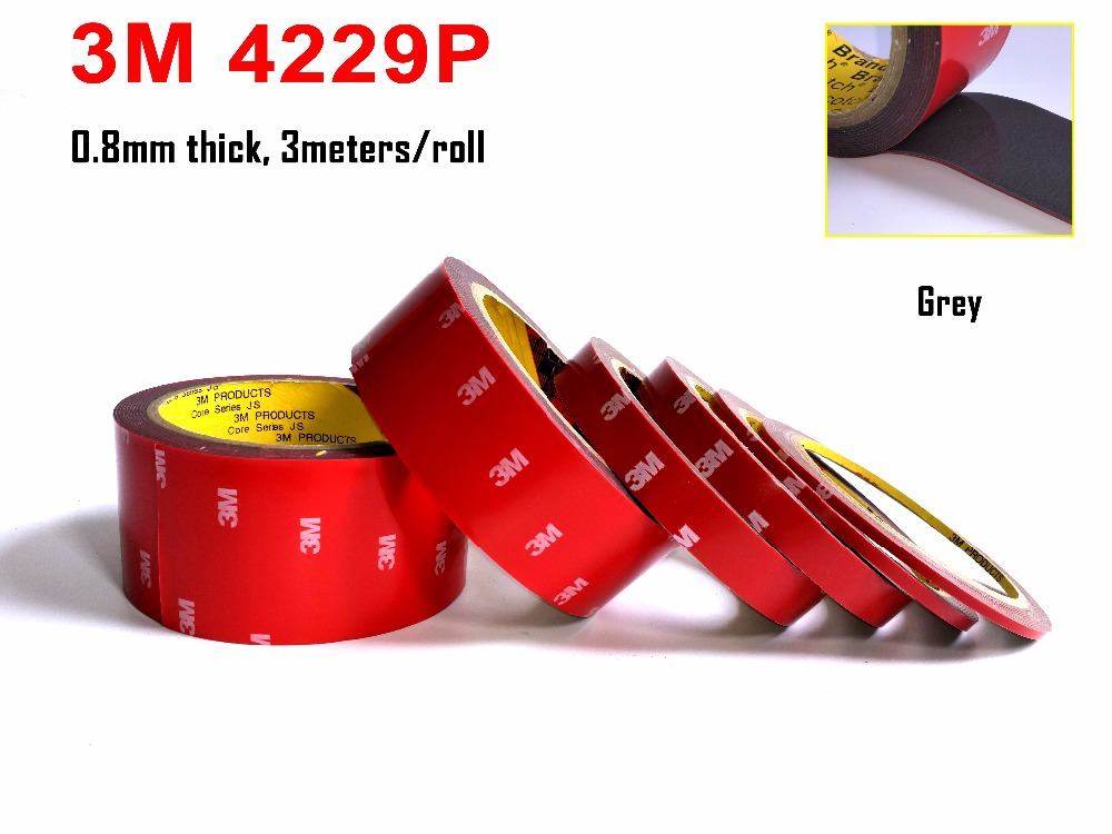 VHB Double Sided Adhesive Acrylic Foam Tape 4229P, Special for Automobile Card  body side Moldings,ABS and PVC etc. 3meters long 3m acrylic tape vhb 4991adhesive double sided tape outstanding durability performance 0 5 in 18yd 5rolls we can offer other size