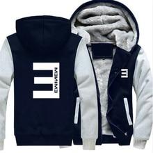 Tamaño grande hombres mujeres hip-hop Eminem zipper jacket sudaderas  thicken HOODIE coat ropa casual 16225d2240e