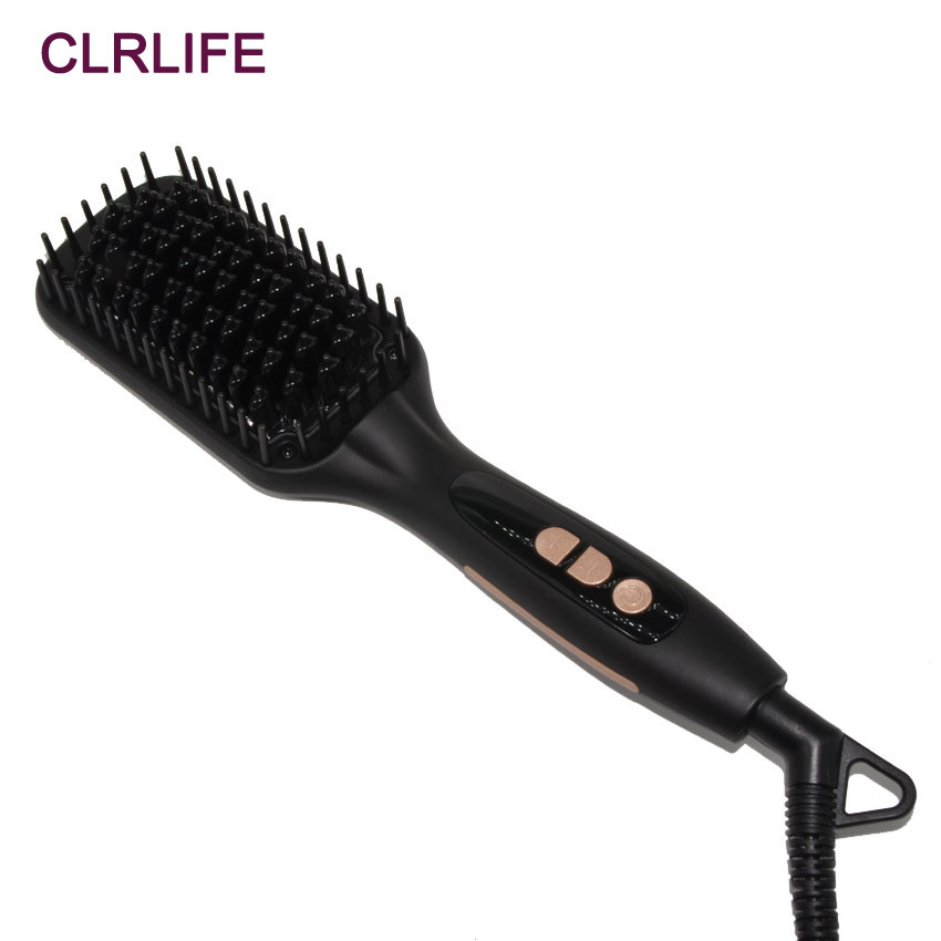 CLRLIFE Ionic Hair Straightener Brush MCH Ceramic Fast Heating Comb Electrical Heated Irons Hair Straightening Styling