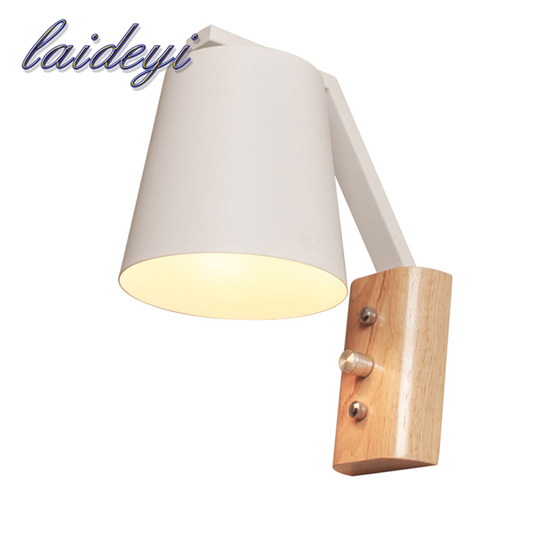 LAIDEYI Modern Solid Wood Sconce LED Wall Light Dimming Wooden Wall Lamps For Home Bedroom Bedside Wall Lamp Indoor Lighting modern minimalist wall lamp solid wood lamps frosted glass oak lights indoor home lighting fixtures decoration bedroom sconce