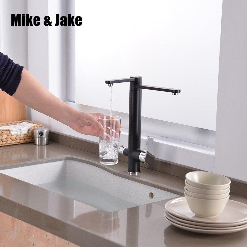 Filtre cuisine robinet robinets 3 fonction cuisine mélangeur Torneiras double fonction robinet Chrome fini filtre à eau 3 voies évier robinet