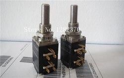 [BELLA] AB importazioni di US 10 K oro antico pin dual inline amplificatore audio lunga durata potenziometro lunghezza del manico 22 MM 6 feet-2PCS