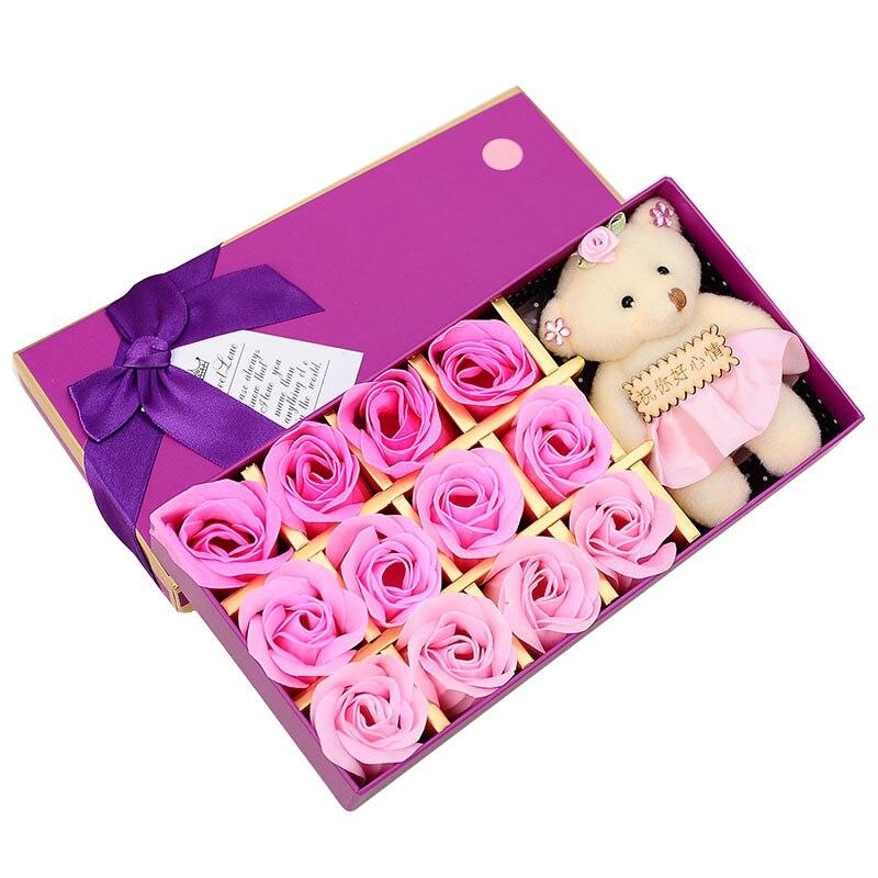 Bubble-Bath-Petals Doll-Decorative Flowers Rose Wedding Girlfriend Bear Birthday