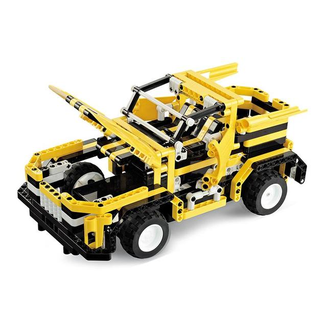 Kids Toys RC Truck Trailer Anime Robot  Auto Bricks Union Building Blocks Sets toys For Children Gift RC Trucks yellow